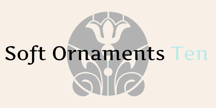 Image for Soft Ornaments Ten font