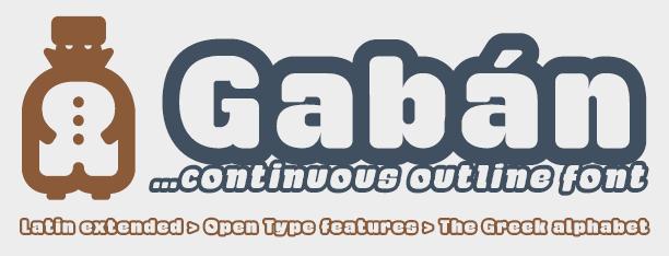 Image for Gaban font
