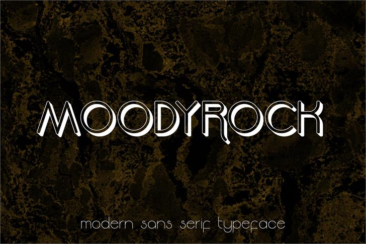 Moodyrock Extrude font by Greataris