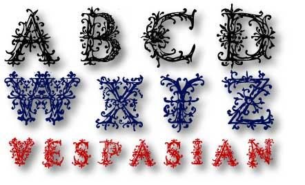 Image for VespasiansFlorials font