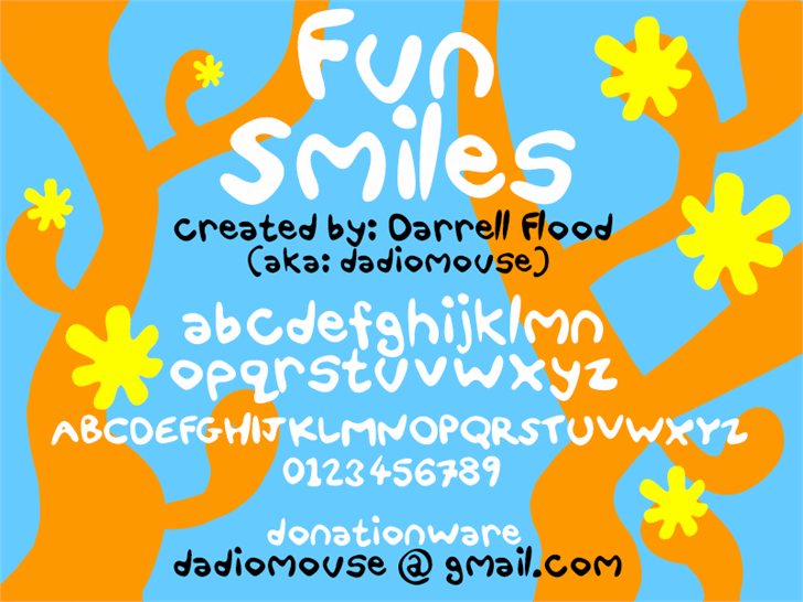 Fun Smiles font by Darrell Flood