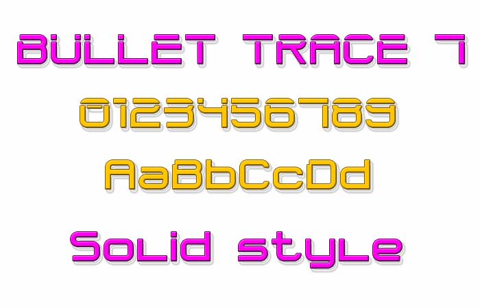Image for Bullet Trace 7 font