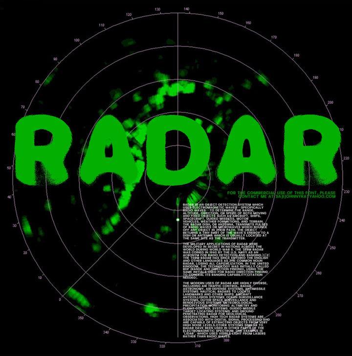 Image for RADAR font
