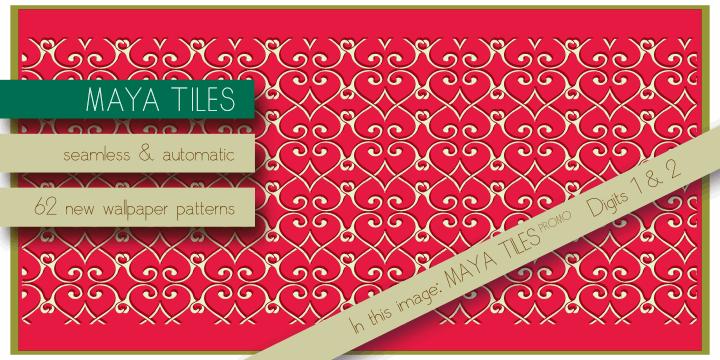 Image for Maya Tiles PROMO font