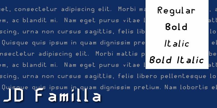 Image for JD Familla font