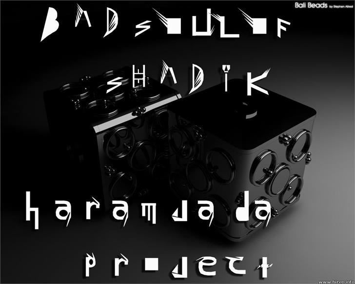 Image for BAD SOUL OF SHADIK font