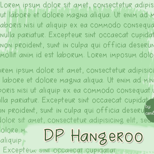 Image for DPHangeroo font