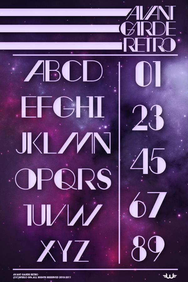 Image for Avant Retro font