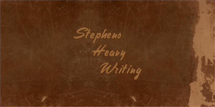 Stephens Heavy Writing font by Intellecta Design