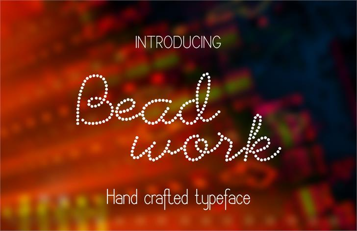 Image for Beadwork font