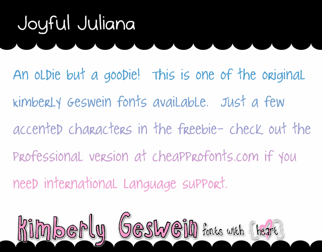 Image for Joyful Juliana font