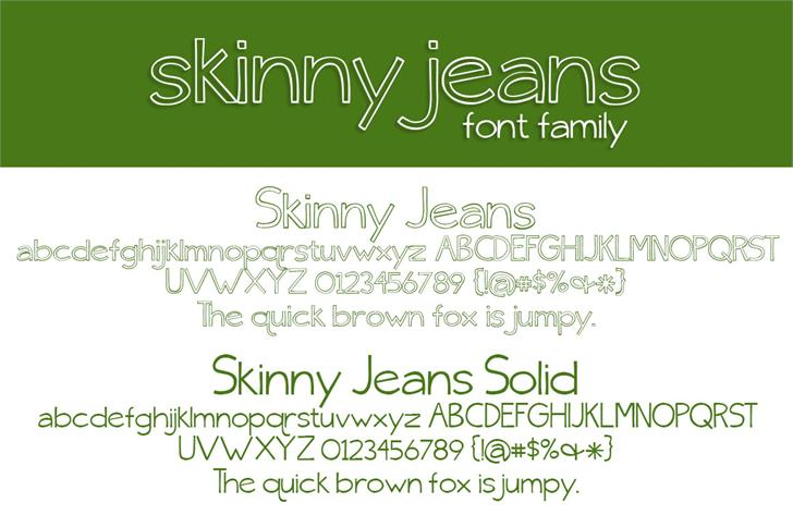 {skinny} jeans font by Brittney Murphy Design