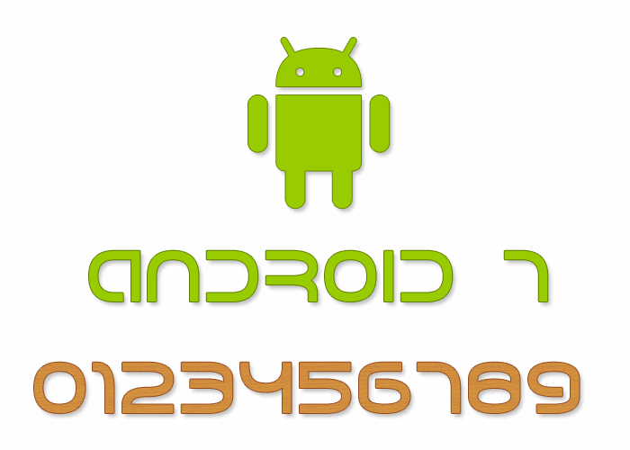 Image for Android 7 font