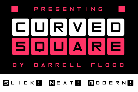 Image for Curved Square font