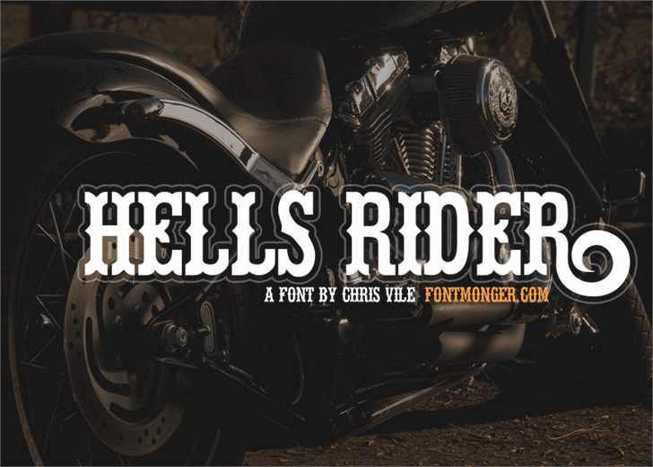 Image for Hells Rider font
