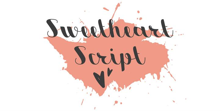 Image for Sweetheart Script font