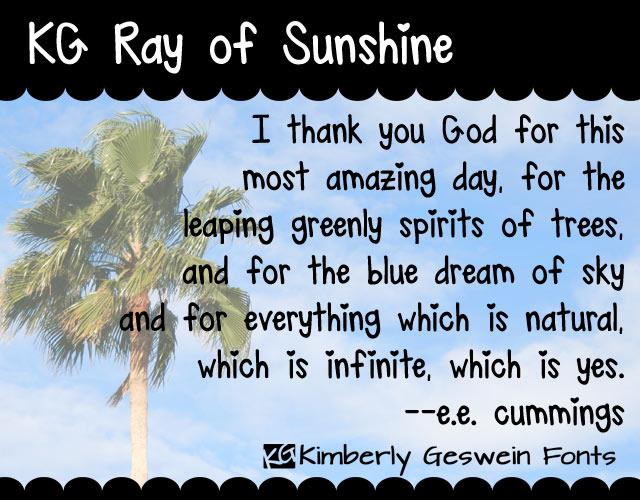 Image for KG Ray of Sunshine font