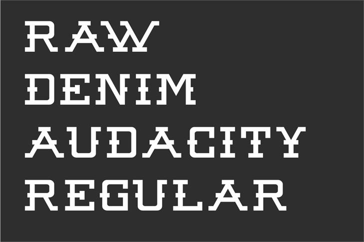 Raw Denim Audacity font by Out Of Step Font Company
