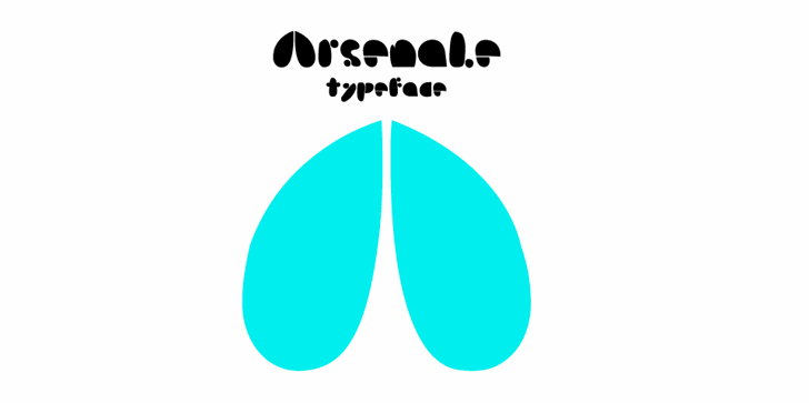 Image for Arsenale Blue font