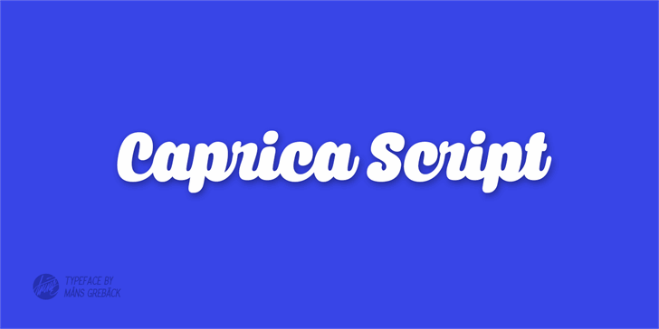 Image for Caprica Script Personal Use font