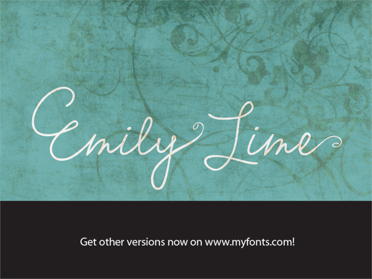 Image for Emily Lime Words font