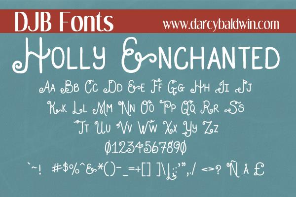 Image for DJB HOLLY ENCHANTED font