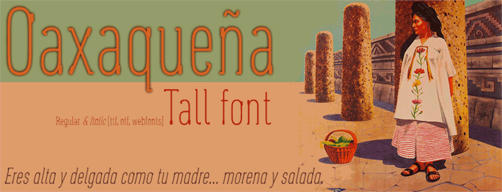 Image for Oaxaqueña Tall font