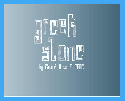 Greek Stone font by Roland Huse Design