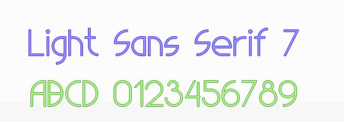Image for Light Sans Serif 7 font