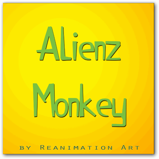 Alienz Monkey font by ReanimationArt