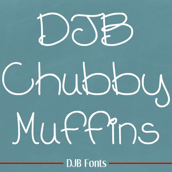 Image for DJB Chubby Muffins font