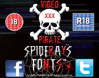 Image for VIDEO PIRATE font