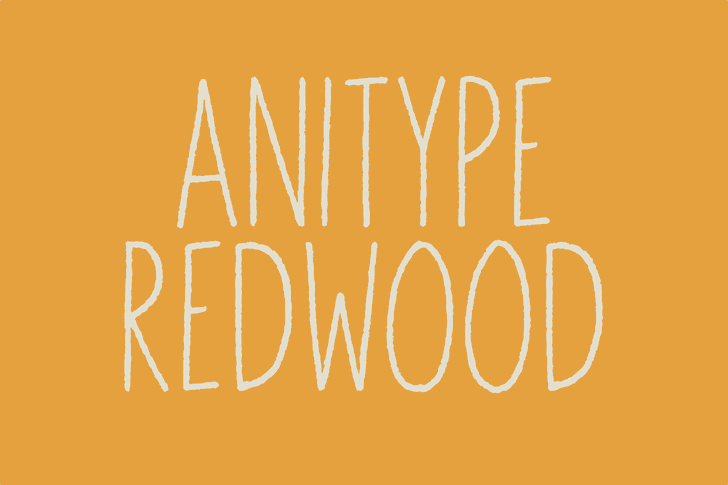Anitype Redwood1 font by Skyhaven Fonts