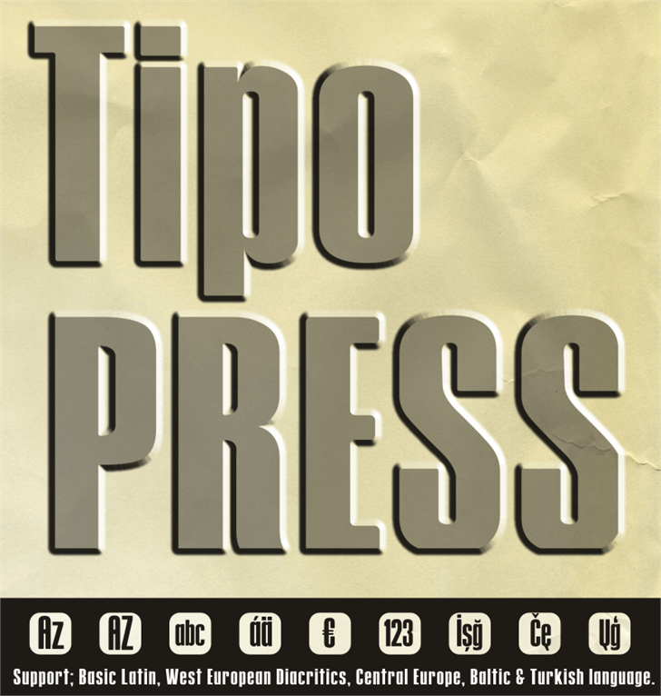 Image for Tipo PRESS font