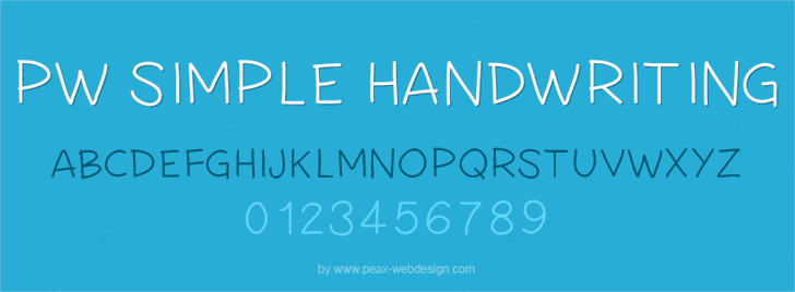 PWSimpleHandwriting font by Peax Webdesign
