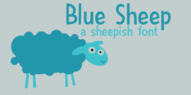 DK Blue Sheep font by David Kerkhoff