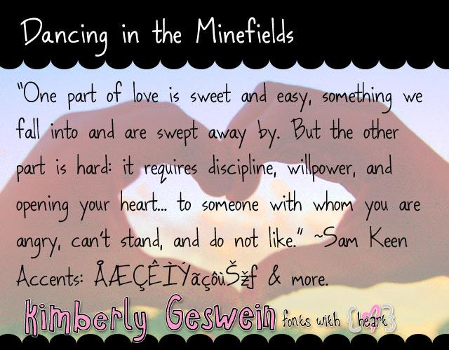 Image for Dancing in the Minefields font