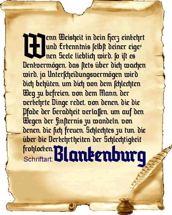 Image for Blankenburg font