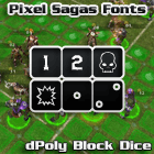 Image for dPoly Block Dice font