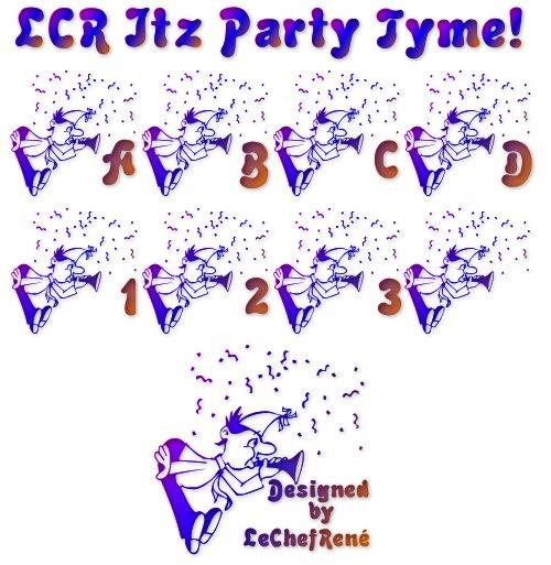 Image for LCR Itz Party Tyme! font