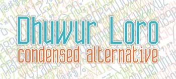 Dhuwur Loro font by BangDje