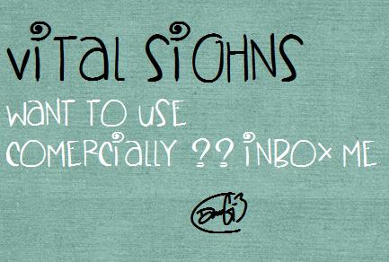 Image for VitalSighns font