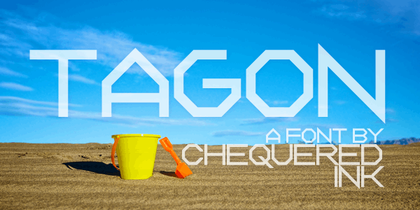 Tagon font by Chequered Ink
