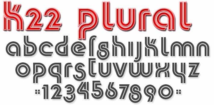 Image for K22 Plural font
