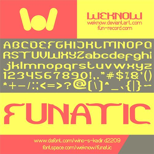 Image for funatic font