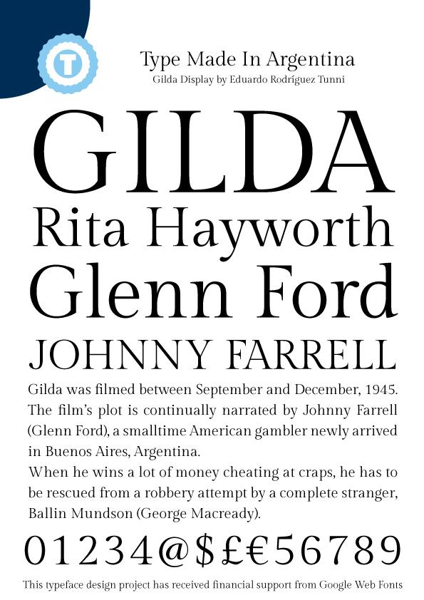 Image for Gilda Display font