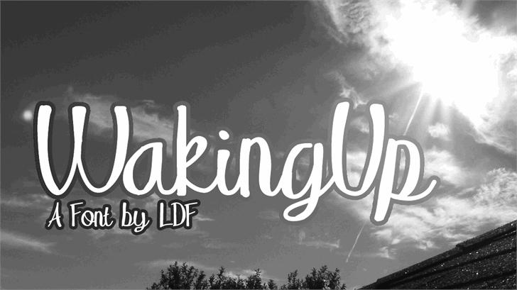 Image for WakingUp font