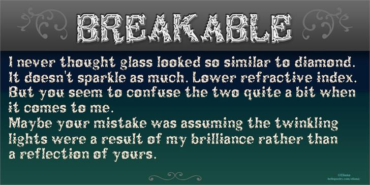 Image for Breakable font