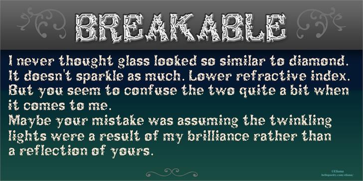 Breakable font by vidka