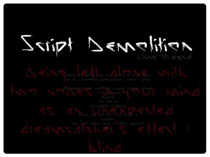 Image for Script Demolition font